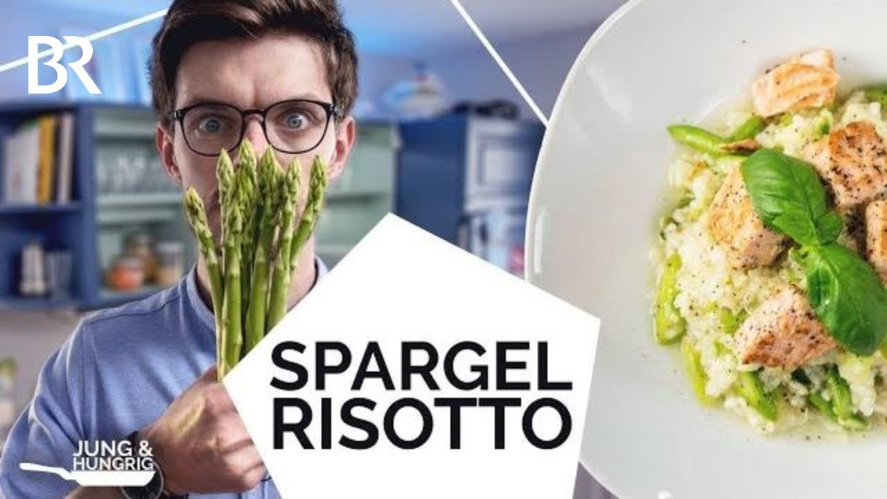risotto kochen mit gr nem spargel und lachs jung hungrig youtube. Black Bedroom Furniture Sets. Home Design Ideas