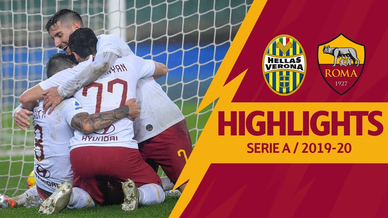 KLUIVERT, PEROTTI E MKHITARYAN SOTTO AL DILUVIO | Verona 1-3 Roma | Serie A Highlights 2019-20
