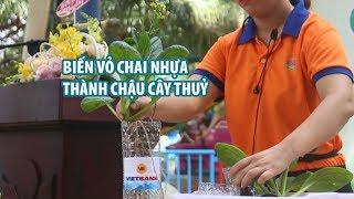 Biến vỏ chai nhựa thành chậu cây thuỷ sinh ở Đầm Sen Sài Gòn