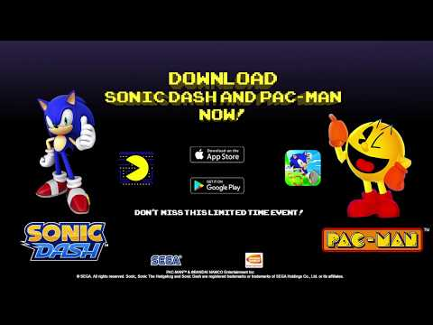 Sonic and PAC-MAN are teaming up!