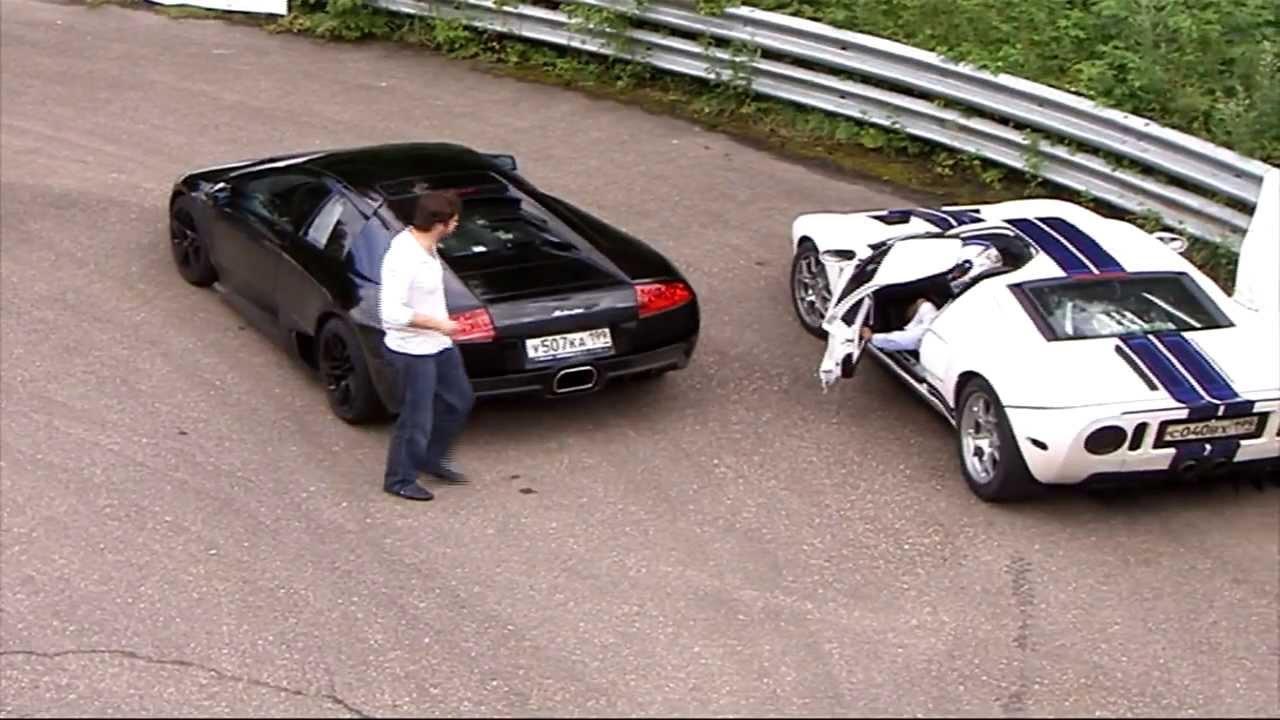 Dragtime Ford Gt Heffner Gt  Vs Lamborghini Murcielago Lp Youtube