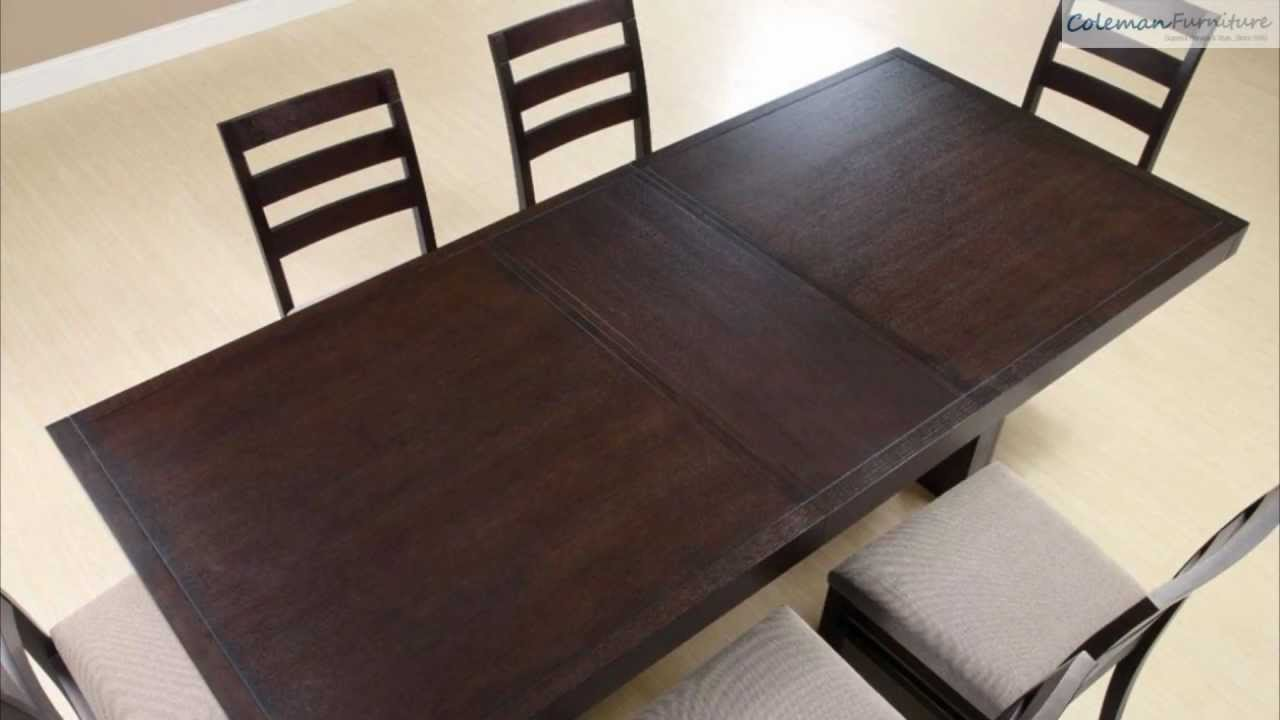 Dabny Cappuccino Rectangular Dining Room Collection From