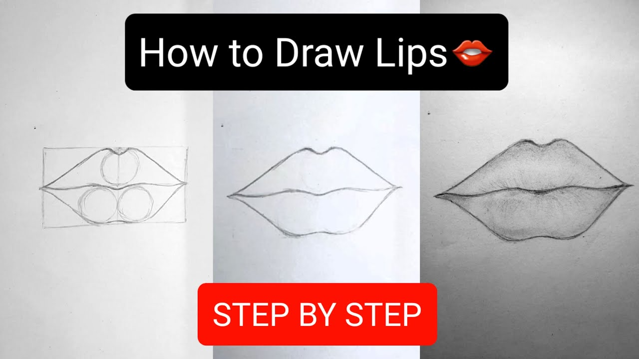 How to draw Lips by pencil - Easy Drawing for beginners ...