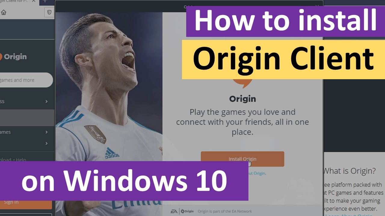 How to Install Origin Client for PC