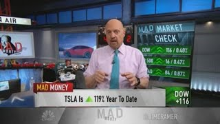 Sell some Tesla and 'let the rest run,' says Jim Cramer