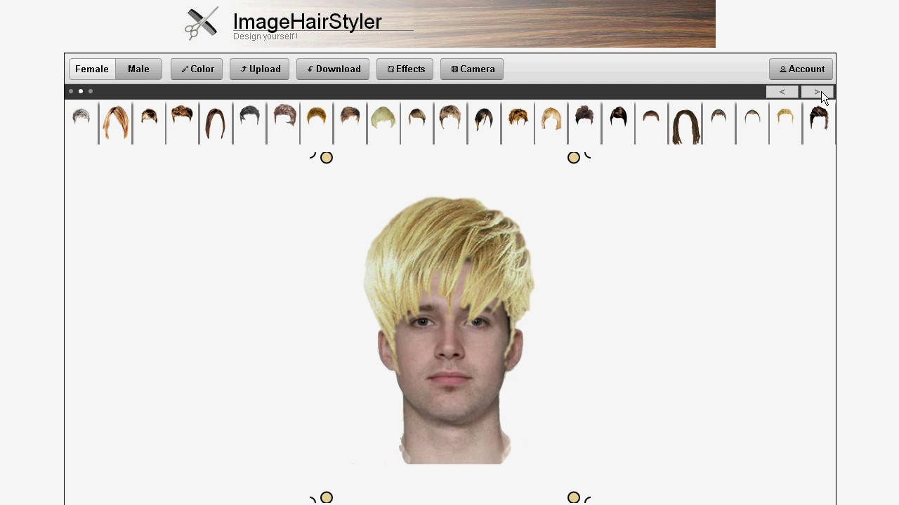male virtual hairstyles online - imagehairstyler - youtube
