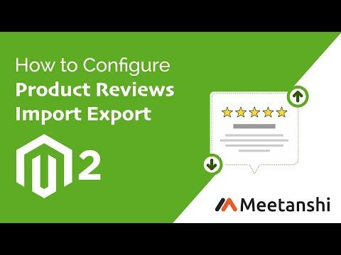 Magento 2 Product Reviews Import Export by Meetanshi thumbnail
