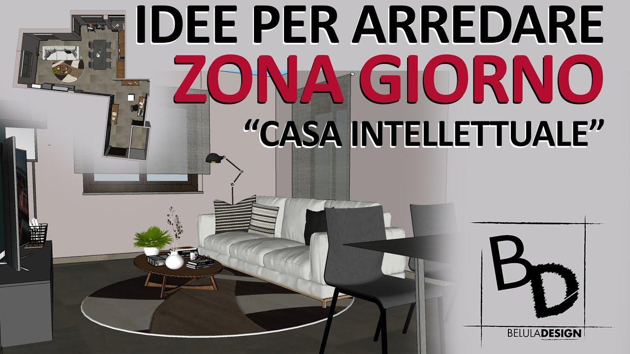 COME ARREDARE una ZONA GIORNO MODERNA | Belula Design - YouTube