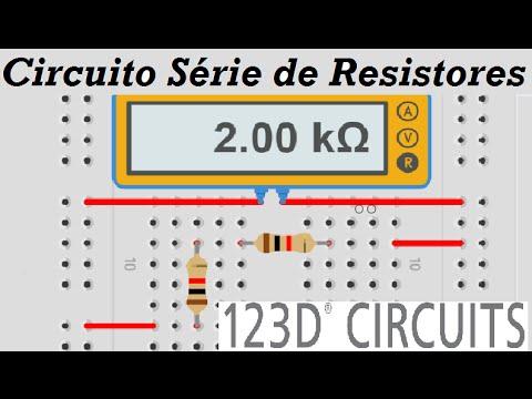 123D Circuits - Circuito Serie de Resistores -  Autodesk 123D