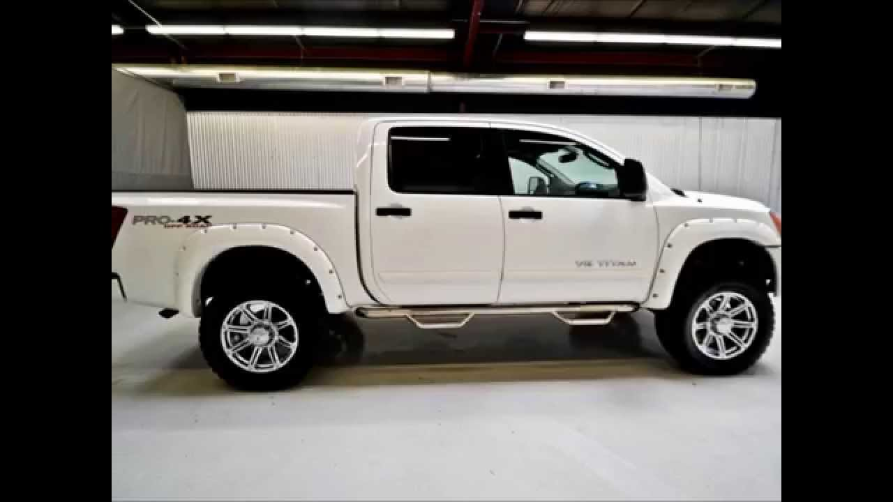 2011 Nissan Titan Crew Cab Pro 4x 4x4 Lifted Truck Youtube
