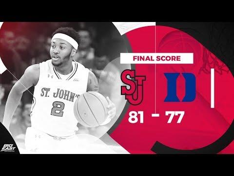 #BIGEASThoops Highlights: St. John's vs. #4 Duke