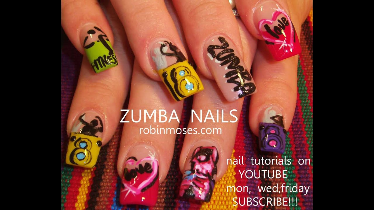 zumba nails rainbow fitness