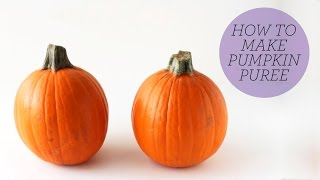 How To Make Pumpkin Puree | Fresh Vs. Canned
