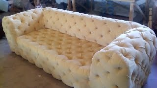 Как сделать Диван Честер своими руками  ПОДРОБНО/Sofa Chester Hand Made