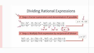MCR3U/Grade 11 Functions: 2.6 Multiplying and Dividing Rational Expressions