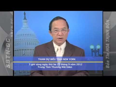 Thông Cáo Khẩn Về Việc Tham Dự Biểu Tình Tại New York - 25/9/2012
