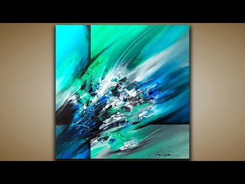 Abstract Painting / DEMO 53 / Scratching and Blending / Abstract art / Painting Techniques