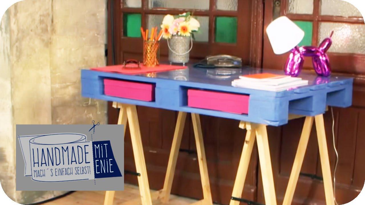 Kinderschreibtisch selber bauen  Paletten-Schreibtisch | Handmade mit Enie - Mach's einfach selbst ...