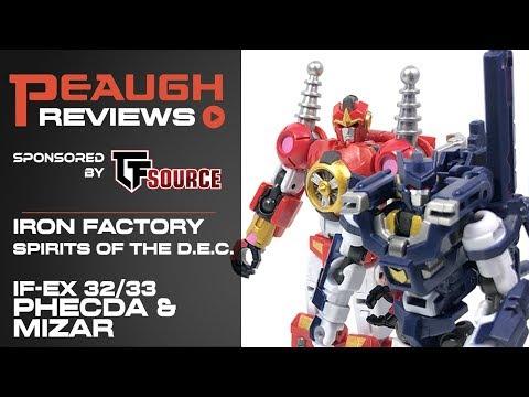 IN STOCK Transformers IronFactory IF EX-32//33 Spirits of The D.E.C Phecda//Mizar