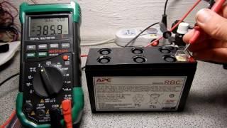 Восстановление аккумуляторов типа 12В 7,2Ач от APC Back-UPS ES 400