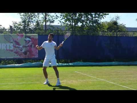 Jiri Vesely practice session (short clip 3) 2015 Aegon Open Nottingham