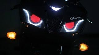Honda CBR600RR 07-12 Optical Fiber LED HID Headlight Assembly