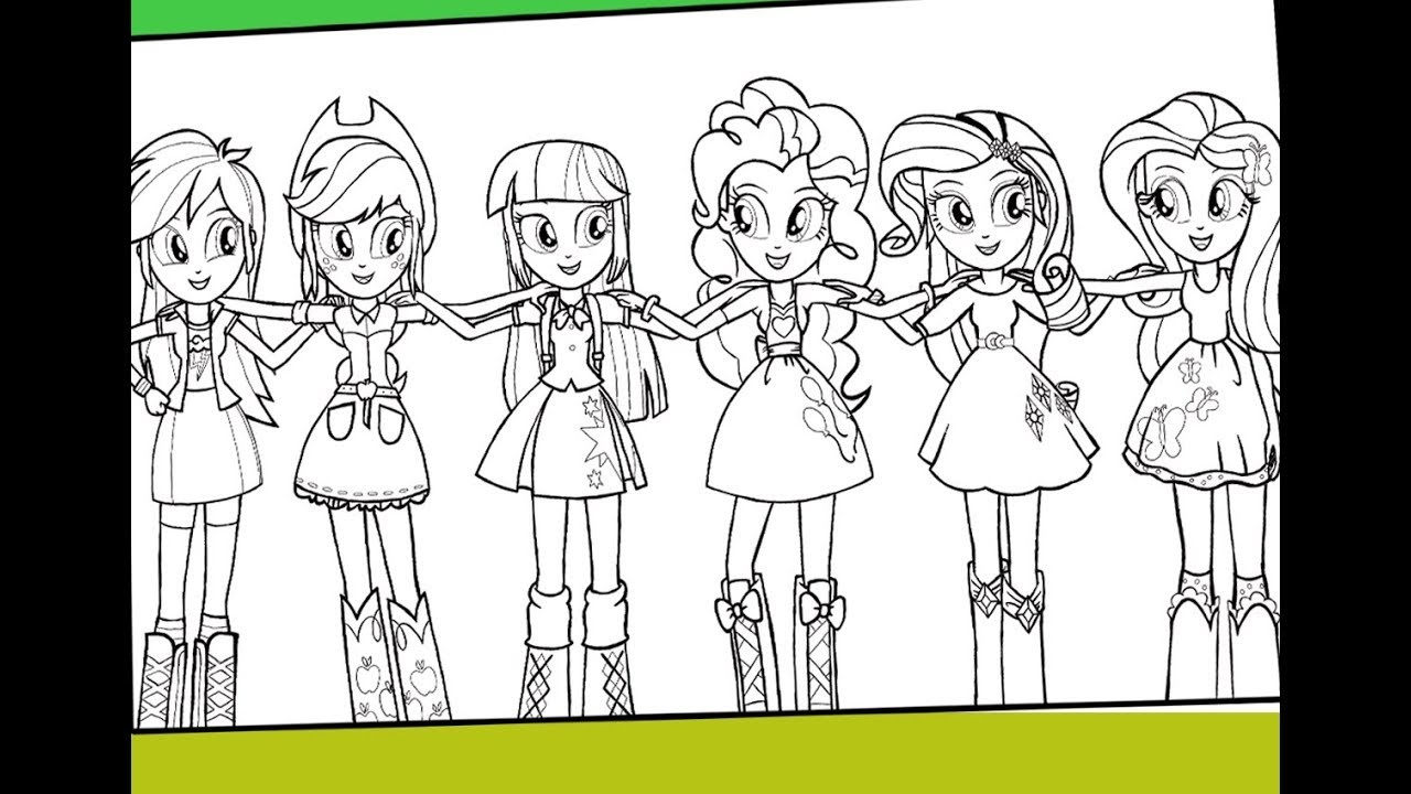 My Little Pony Equestria Girl Coloring Pages Alluring Girls For Kids
