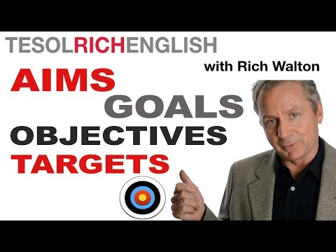 Learn Business English key words - objective, goal, aim, target - IELTS, BEC