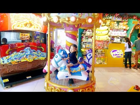 Indoor Amusement Arcade Playground for Children - Carousel Pony Ride - Donna The Explorer