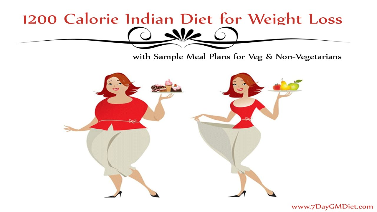 1200 Calorie Indian Diet Plan to Lose Weight w/o Exercise ...