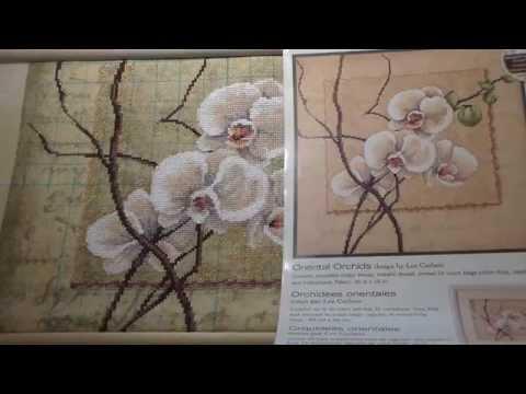 Вышивка крестиком Восточные орхидеи. Counted cross stitch project OrientalOrchids