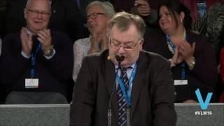 Claus Hjort Frederiksens tale ved Venstres Landsmøde 2016