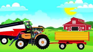 Combine Harvester   Compilation For Kids   Bajki o Rolnikach, Kombajny i inne