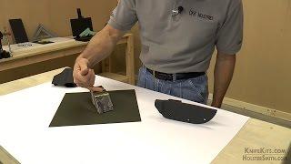 thermoform sheet swatch from ckk kydex holstex boltaron sampler
