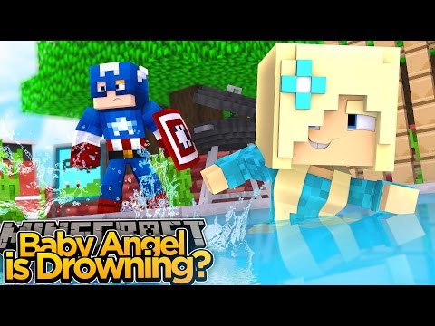 Minecraft Adventure - BABY ANGEL DROWNED AT THE WATER PARK?