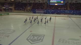 Чемпионат России по синхронному катанию KMC Короткая программа 4 Юность EKA