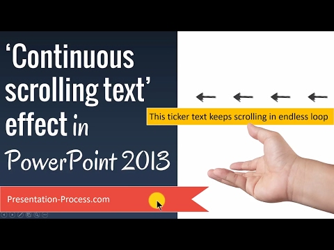 Continuous Scrolling Text Effect in PowerPoint 2013