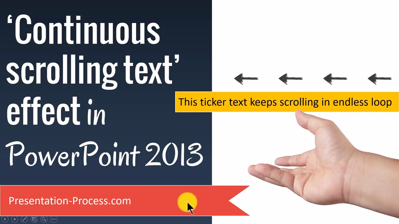 scrolling text in powerpoint