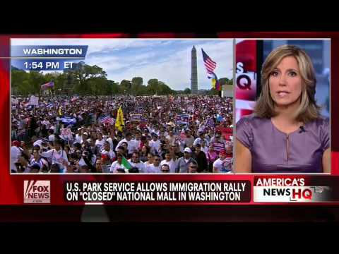 Outrage : Illegal Immigration rally held on 'closed' National Mall in Washington D.C. (Oct 09, 2013)