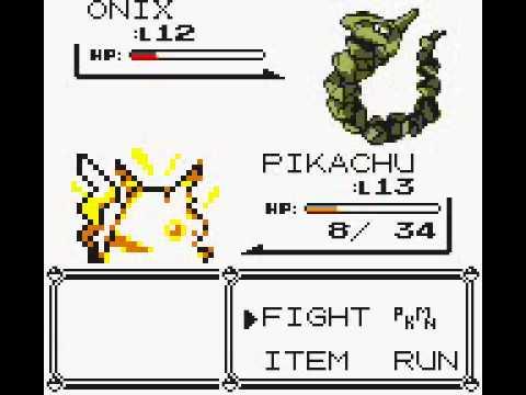 Pokemon Yellow Vs Brock