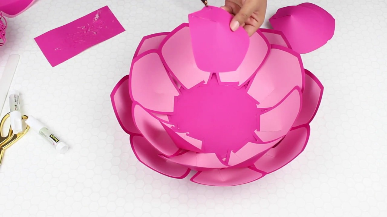 Two Tone Paper Flower Tutorial Using Template 8 Youtube