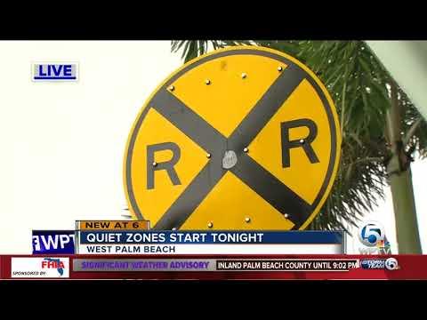 Brightline quiet zones take effect Monday night in West Palm Beach