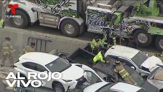 Un choque entre casi 100 autos deja muertos y decenas de heridos en Texas