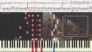 Коробейники - Русская народная песня (вариация) (Ноты и Видеоурок для фортепиано) (piano cover)