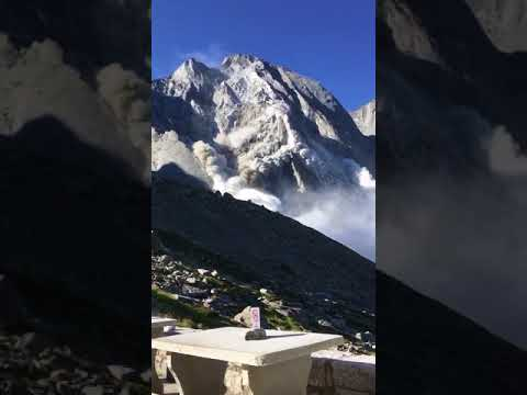 Massive Rock 'Avalanche' Forces Evacuations in Swiss Alps