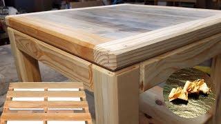 Fabrication table basse bois de palette
