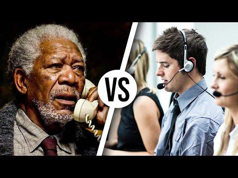 Guy LOVES Morgan Freeman voice in prank call...