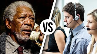 Guy LOVES Morgan Freeman voice in prank call...