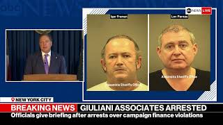 US Attorney addresses arrest of two men with ties to Trump Attorney Rudy Giuliani | ABC News