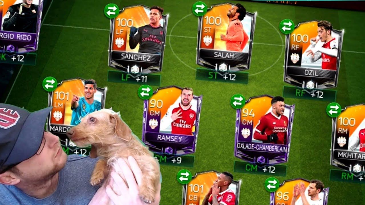 FIFA Mobile 18 Full TOTW Squad! 100 OVR Captain Salah, and Marco ...